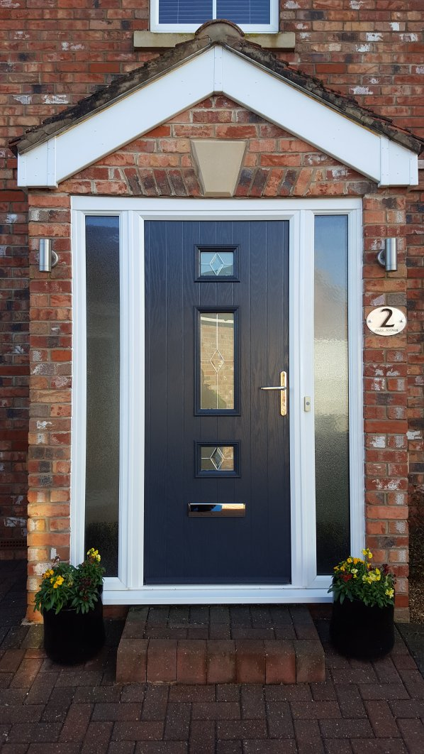 entrance door composite anthracite