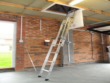 Image of aluminium alloy loft ladder