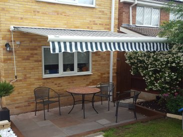 Image of full cassette patio awning